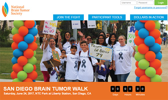 SAN DIEGO BRAIN TUMOR WALK - Saturday, June 24, 2017, NTC Park at Liberty Station, San Diego, CA